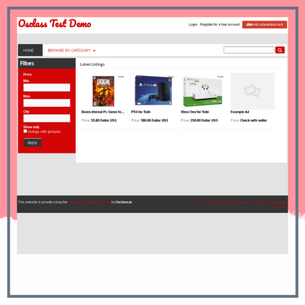 Car Dealer Osclass Theme