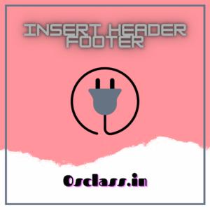 Insert Header Footer