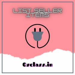 List Seller Items