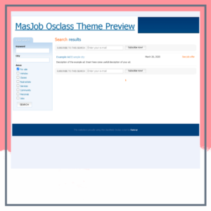 Masjob Osclass Theme