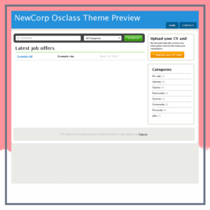 New Corp osclass Theme