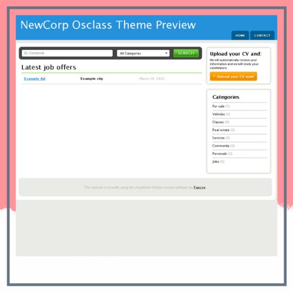 New Corp osclass Theme