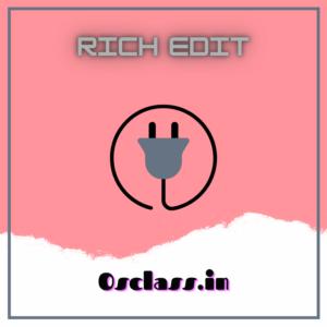 Rich Edit