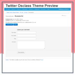 Twitter Osclass Theme