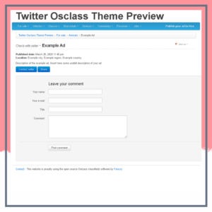 Twitter Osclass Theme